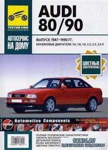 AUDI 80 / 90, 1987-1990 г. бензин. Руководство по ремонту, ТО и эксплуатаци ...