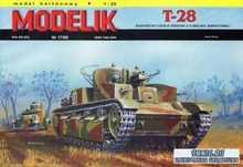 Modelik №17 2009 - средний танк T-28