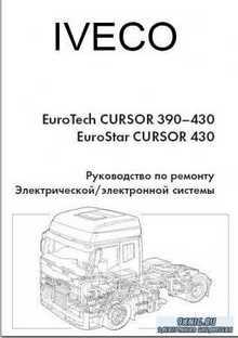 Iveco EvroTech Cursor 390-430, EvroStar Cursor 430. Руководство по ремонту  ...