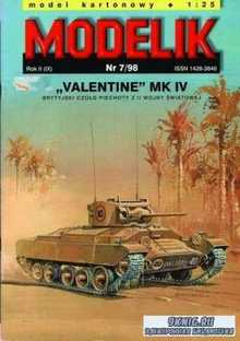 Modelik №7 1998 - британский танк Valentine Mk.IV