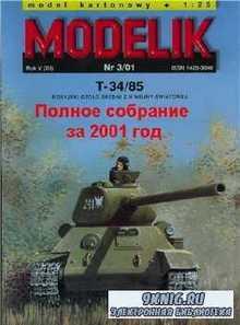 Полное собрание масштабных моделей от MODELIK за 2001 год