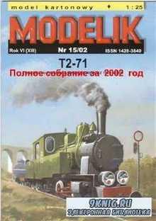 Полное собрание масштабных моделей от MODELIK за 2002 год