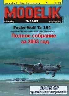 Полное собрание масштабных моделей от MODELIK за 2003 год