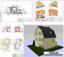 Проекты домов и коттеджей. Альбомы чертежей. 52 коттеджа. Выпуск 2