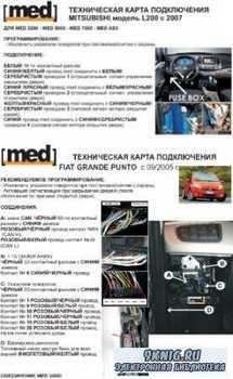 Технические карты подключения сигнализаций к автомобилям