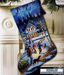 Dimensions 8805 Christmas Eve Fun Stocking