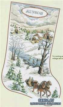 Winter Scene Stocking 2010