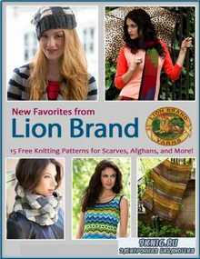 New Favorites From Lion Brand Free Knitting Patterns for Scarves Afghans an ...