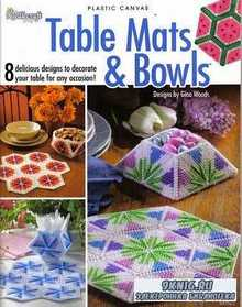 Plastic Canvas. Table Mats and Bowls 8 delicious designs to decorate your t ...