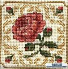Самые красивые и простые цветочные схемы для вышивки крестом (2015)