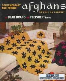 Afghans to Knit or Crochet in Bear Brand or Fleisher Yarns
