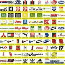 Машинная вышивка.  Логотипы, эмблемы