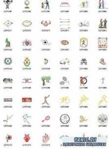 Машинная Вышивка. Коллекция схем - Gunold Sports Embroidery