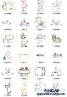 Машинная Вышивка. Коллекция схем - Gunold Childrens Embroidery