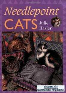 Julie Hasler - Needlepoint cats. Вышитые кошки