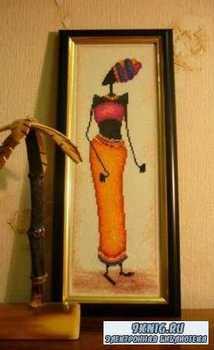 Вышивка крестом. Коллекция схем - африканские мотивы