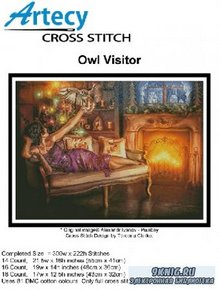 Artecy Cross Stitch - Owl Visitor