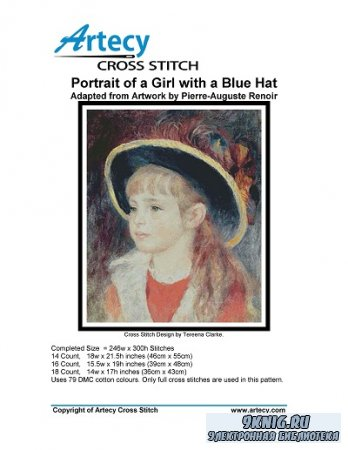 Artecy Cross Stitch - Portrait of a Girl with a Blue Hat